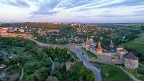 Fortaleza de Kamenets Podolskaya fotografía de archivo libre de regalías