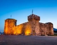 Fortaleza de Kamerlengo en Trogir por la tarde, Dalmacia Imagen de archivo libre de regalías