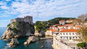 Fortaleza de la ciudad vieja de Dubrovnik, Croacia Fotos de archivo