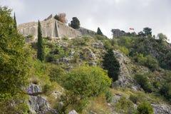 Fortaleza de la visión de Kotor Fotografía de archivo libre de regalías