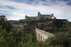 Fortaleza de Lbornoz. Spoleto. Umbría Imagenes de archivo