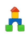 Fortaleza de los bloques de los niños foto de archivo