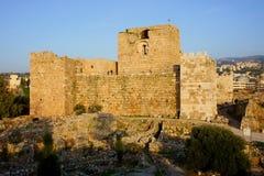 Fortaleza de los cruzados de Byblos foto de archivo libre de regalías