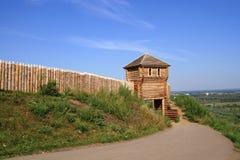 Fortaleza de madeira para a reconstrução histórica foto de stock