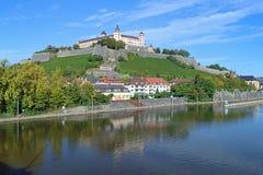 Fortaleza de Marienberg en Wurzburg, Alemania Imagenes de archivo