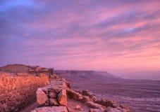 Fortaleza de Masada fotografía de archivo libre de regalías