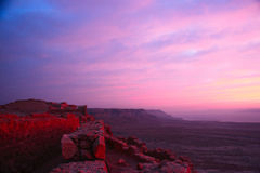 Fortaleza de Masada Imagen de archivo libre de regalías