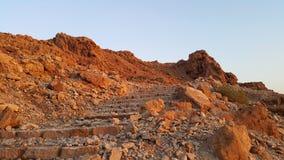Fortaleza de Masada Desierto de Judean Imágenes de archivo libres de regalías