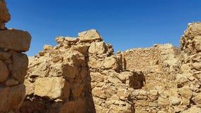 Fortaleza de Masada Desierto de Judean Imagen de archivo libre de regalías