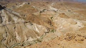 Fortaleza de Masada Desierto de Judean Foto de archivo libre de regalías