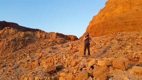 Fortaleza de Masada Desierto de Judean Fotografía de archivo
