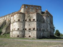 Fortaleza de Medzhybizh Imágenes de archivo libres de regalías