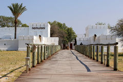 Fortaleza de Namutoni, entrada al parque nacional de Etosha Fotografía de archivo