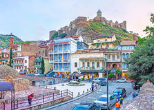 Fortaleza de Narikala en Tbilisi Foto de archivo