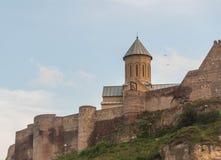 Fortaleza de Narikala, Tbilisi Imagenes de archivo