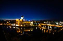 Fortaleza de Narva en la noche Fotografía de archivo