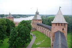 Fortaleza de Novgorod Fotos de archivo libres de regalías