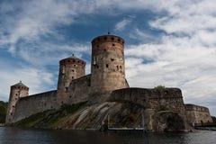Fortaleza de Olavinlinna Imagenes de archivo