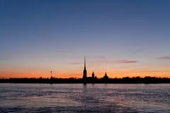 Fortaleza de Peter e de Paul em St Petersburg Fotos de Stock