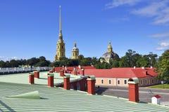 Fortaleza de Peter e de Paul em St Petersburg Fotografia de Stock Royalty Free