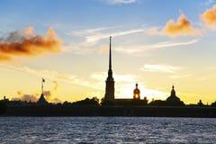 Fortaleza de Peter e de Paul em St Petersburg fotos de stock royalty free