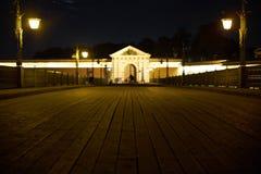 Fortaleza de Peter e de Paul na noite Imagem de Stock Royalty Free