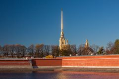 Fortaleza de Peter e de Paul, St Petersburg Fotografia de Stock