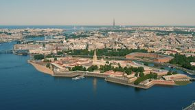 Fortaleza de Peter e de Paul em St Petersburg video estoque
