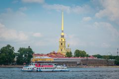 Fortaleza de Peter e de Paul em St Petersburg, R?ssia imagem de stock