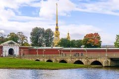 Fortaleza de Peter y de Paul en St Petersburg Fotos de archivo libres de regalías