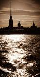 Fortaleza de Peter y de Paul en St Petersburg, Rusia Foto de archivo libre de regalías