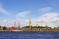 Fortaleza de Peter y de Paul. St Petersburg, Rusia Fotos de archivo libres de regalías