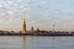 Fortaleza de Peter y de Paul, St Petersburg imagen de archivo