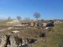 Fortaleza de Petrichа cerca del pueblo Razdelna Imagen de archivo
