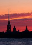 Fortaleza de Petropavlovskaya foto de stock royalty free