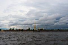 Fortaleza de Petropavlovskaya Imágenes de archivo libres de regalías