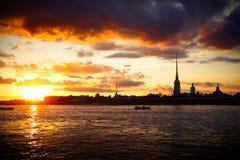 Fortaleza de Petropavlovskaya fotografia de stock royalty free