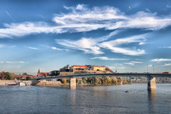 Fortaleza de Petrovaradin em Novi Sad imagens de stock royalty free