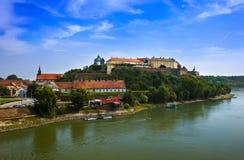 Fortaleza de Petrovaradin em Novi Sad - Sérvia imagens de stock royalty free