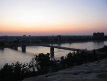 Fortaleza de Petrovaradin na Sérvia foto de stock