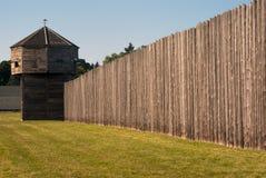 Fortaleza de Pinoeer con la fortaleza Vancouver de la torre de la defensa Imagenes de archivo