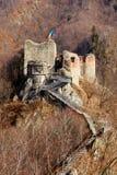Fortaleza de Poienari de Dracula Imagem de Stock