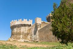 Fortaleza de Populonia, Toscana. Imagen de archivo
