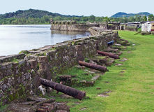 Fortaleza de Portobelo Foto de archivo libre de regalías