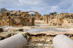 Fortaleza de quarenta colunas em Paphos fotografia de stock royalty free