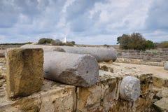 Fortaleza de quarenta colunas em Paphos fotos de stock royalty free