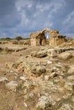 Fortaleza de quarenta colunas em Paphos fotos de stock