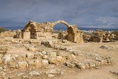 Fortaleza de quarenta colunas em Paphos imagem de stock