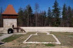 Fortaleza de Rasnov fotos de archivo