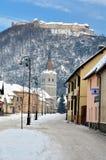 Fortaleza de Rasnov en Transilvania fotos de archivo